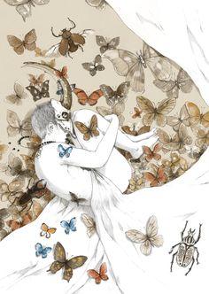 Cet artiste chinois illustre avec beaucoup de poésie des histoires entre l'homme et la nature !