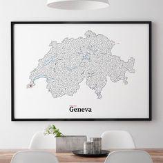All roads lead to Geneva. http://ift.tt/1mAZs35 #maze #art #interactiveart #print #mazeart #switzerland #geneva #mickallan #poster #framedart