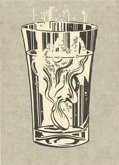 Roy Lichtenstein, Alka Seltzer, 1966.