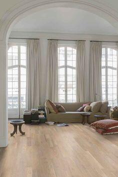 "Quick-Step Variano (VAR3101) ""Seashell white oak extra matt"" Hardwood Floors www.quick-step.be"