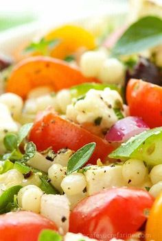 Mediterranean Chopped Salad. All the fabulous flavors from the Mediterranean region where olive and lemon trees cover the hillsides and crystal clear turquoise waters lap sun-bleached beaches.