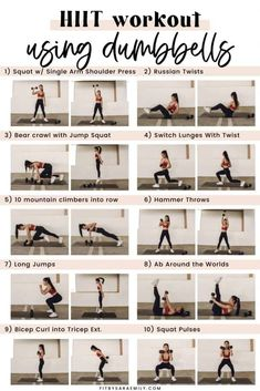 35-Minute Full-Body HIIT Workouts With Weights - Fit by Sara Emily