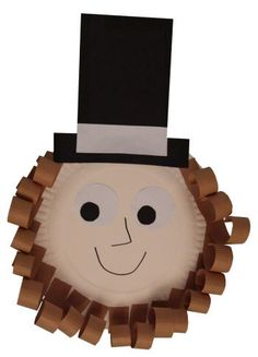 Abraham Lincoln Paper Plate Craft and other president's day crafts Holiday Activities, Preschool Activities, Holiday Crafts, July Crafts, Preschool Writing, Patriotic Crafts, Group Activities, Classroom Crafts, Preschool Crafts