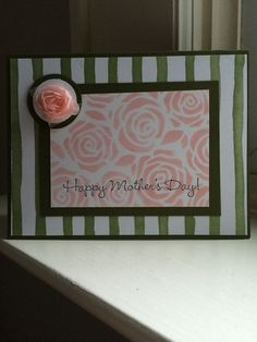 "Happy Mothers Day Rosettes Card made using the Stampin' Up! Artisan Embellishment kit and ""Sweet Laughter"" stamp setby StyleDealDiva on Etsy"
