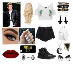 """Town with Luke Hemmings! (Black and white)"" by loves5sos ❤ liked on Polyvore featuring South Beach, Alexander Wang, Converse, House of Harlow 1960, Chicnova Fashion, Samantha Wills, Jewel Exclusive, Rebecca Minkoff and Topshop"