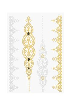 Metallic Band Temporary Tattoo Pack - Topshop