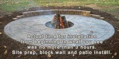 Fire pit for back yard