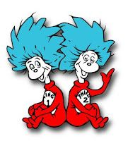 Dr Seuss Thing 1 & 2 Free SVG