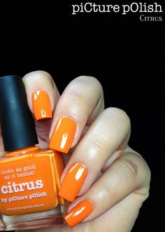 piCture pOlish Citrus mani by Fashion Polish!  Buy on-line now:  www.picturepolish.com.au