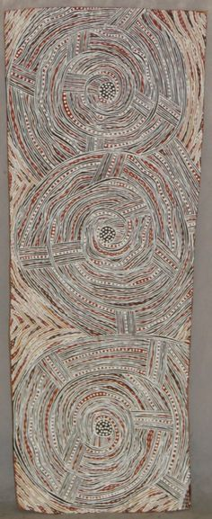 "Wanyubi Marika ~ ""Mumutthun"" earth pigments on bark"