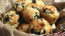 Low Fat Blueberry Bran Muffins.   No added fat - uses applesauce.  My husband and 3 year old love them,  Work equally as well as mini muffins.