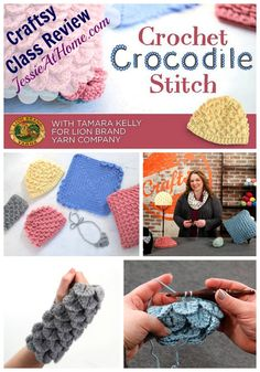 Intimidated by complex crochet stitches like the crocodile stitch? Check out this review of Tamara Kelly's (Moogly) Craftsy class from Jessie At Home. You can do it!
