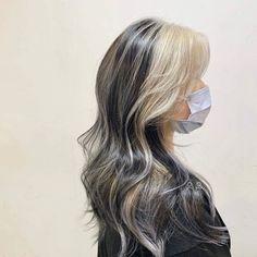 Hair Color Streaks, Hair Dye Colors, Hair Highlights, Two Color Hair, Hair Inspo, Hair Inspiration, Skunk Hair, Dye My Hair, Dip Dye Hair