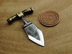 Hand forged mini Push Dagger