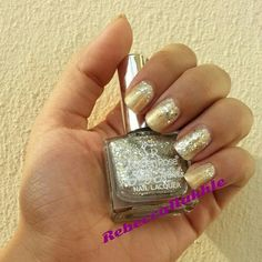 September Nail Art Challenge by Californails Day 1: Simple. Simple Golden Gradient Glitter Nails using Golden Rose-Jolly Jewels #122