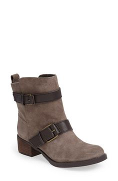 Free shipping and returns on Sole Society 'Kai' Suede Moto Boot (Women) at Nordstrom.com. Buckled leather straps contrast beautifully against the smooth suede of this casual take on a traditional biker boot.