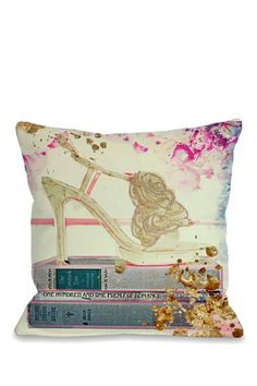 Oliver Gal by One Bella Casa Gold Shoe Multi Pillow