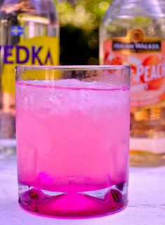 1 oz citrus vodka ½ oz peach schnapps Crystal Light Pink Lemonade Crushed Ice Rocks glass (or make it a martini)
