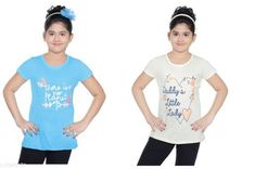 Tshirts Elegant Cotton Kid's Girl T-Shirts Fabric: Cotton Sleeves: Short Sleeves Are Included Sies: Age Group (8 - 9 Years) - 30 in Age Group (9 - 10 Years) - 32 in Age Group (10 - 11 Years) - 32 in Age Group (11 - 12 Years) - 34 in Age Group (12 - 13 Years) - 34 in Age Group (13 - 14 Years) - 36 in Type: Stitched Description: It Has 2 Pieces Of Kid's Girl T-Shirt Country of Origin: India Sizes Available: 8-9 Years, 9-10 Years, 10-11 Years, 11-12 Years, 12-13 Years, 13-14 Years   Catalog Rating: ★4.3 (2657)  Catalog Name: Latest Elegant Cotton Kid's Girl T-Shirts Vol 2 CatalogID_556682 C62-SC1143 Code: 113-3949174-456