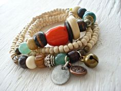 Yoga Bracelet  Boho Jewellery  African by HandcraftedYoga on Etsy, $43.00