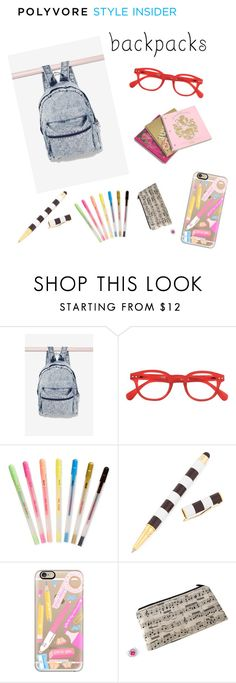 """""""#backpacks"""" by altrisa-mulla ❤ liked on Polyvore featuring Juicy Couture, ban.do, Henri Bendel, Casetify, Music Notes, backpacks, contestentry and PVStyleInsiderContest"""