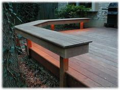 Lighted Deck Bench