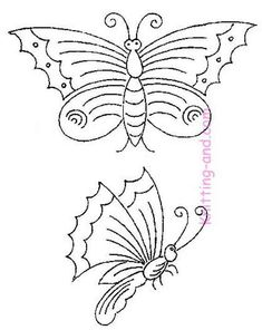 Butterfly embroidery patterns - free