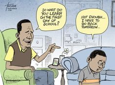Funny on Sunday: why do you have to go back to school?   From experience to meaning...