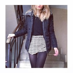 https://www.facebook.com/vmstyling Like us on FB! #fashion #outfit #diy #blonde #blackandwhite