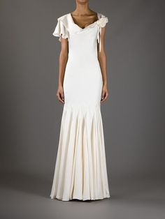 Alexander Mcqueen Pleated Cowl Back Gown - Gaudenzi - Farfetch.com