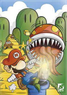 Pateando Flores (FanArt Super Mario Bros)