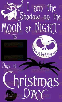 """This sign would be the perfect gift for the Nightmare Before Christmas fan in your life. Vinyl is sized to fit a 11"""" x 18"""" area. Vinyl only comes in the two colors, black and white unless otherwise st"""