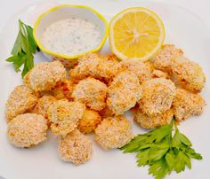 Oven Fried Popcorn Cauliflower Bites