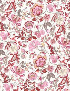 liberty fabric in red