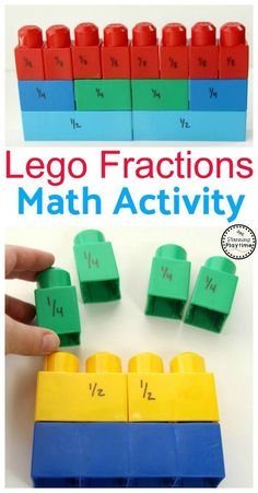 Lego Fractions Math Activity for Kids. So fun!