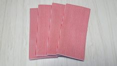 Christmas Cloth Napkins Red White Stripes Dinner Lunch 16 Inch Set of 4