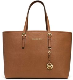Medium Jet Set Saffiano Travel Tote - Lyst