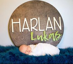 18 Round Custom Name Wood Sign Baby Name Sign Cute Baby Names, Unique Baby Names, Baby Girl Names, Boy Names, Baby Boy, Nursery Name, Nursery Room Decor, Nursery Signs, Wood Name Sign