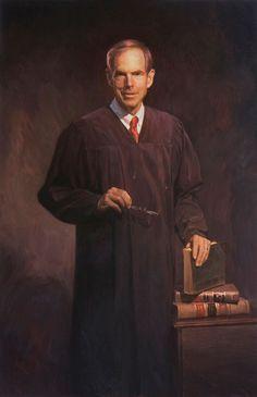 Judge Ronald Whyte official portrait United States District Court by Scott Johnston.