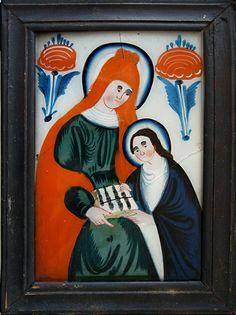Bild aus Sandl, Österreich, 19. Jahrhundert Art Brut, Kandinsky, Holi, Painting, Pictures, Painting Art, Holi Celebration, Paintings, Painted Canvas