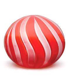 This Red & White Stripe Glass Paperweight by Dynasty Gallery is perfect! #zulilyfinds #glasspaperweight #redandwhitestripes #glass #artglass