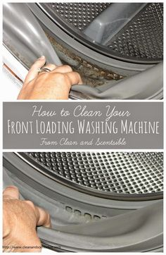Learn how to clean your washing machine to improve efficiency, get rid of mold and mildew, and eliminate that stinky washing machine smell for good! Household Cleaning Tips, Deep Cleaning Tips, Toilet Cleaning, House Cleaning Tips, Natural Cleaning Products, Cleaning Solutions, Spring Cleaning, Cleaning Hacks, Cleaning Mold