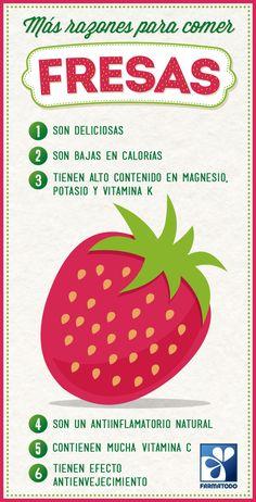 Beneficios de la #Fresa #Salud #Alimentacion