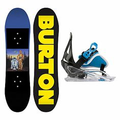 Burton Chopper Star Wars and Grom Kids Kids Snowboard and Binding Package 2014