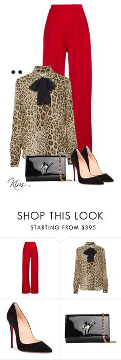 """Untitled #11756"" by ksims-1 ❤ liked on Polyvore featuring Michael Lo Sordo, Christian Louboutin, Giuseppe Zanotti and Humble Chic"