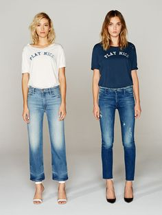 Mother Denim - Play Nice Tee - Navy