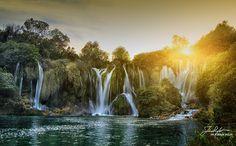 Sunset. Waterfall Kravice Ljubuski, Herzegovina by Ivica Kola Sigler on 500px.