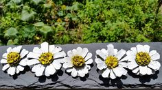 Painted Pine cone daisy Flowers similar to Painted Pine cone Zinnia Flowers Zinnia Pine cones White daisy  SET OF THREE  Wreath making by MagnoliaFloralTexas on Etsy https://www.etsy.com/listing/398240595/painted-pine-cone-daisy-flowers-similar
