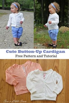 Button-Up Cardigan Pattern and Tutorial