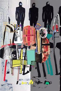 2013, David Carson : 50th anniversary poster for Britains National Theatre